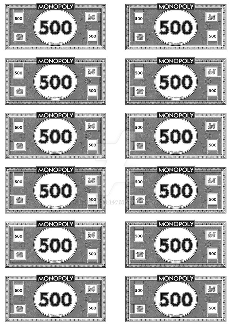 Sassy image with printable monopoly money