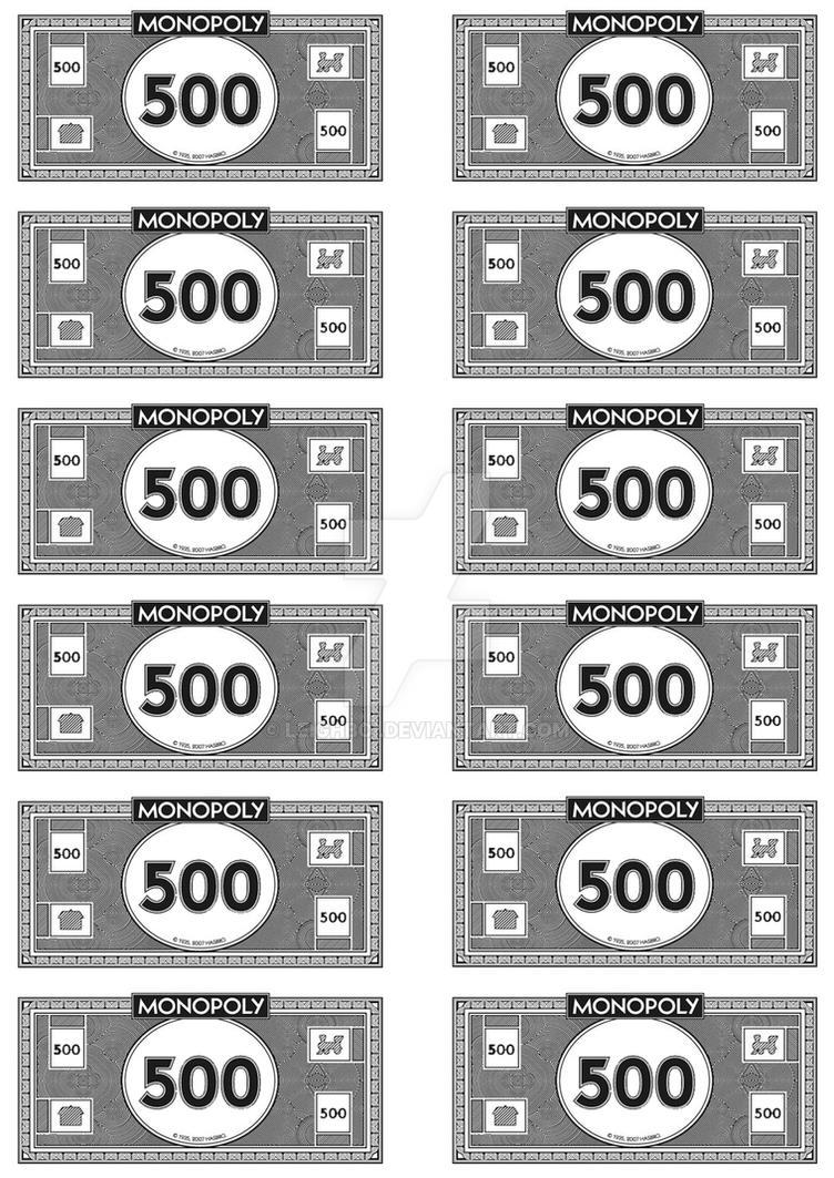 $500 bill monopoly money