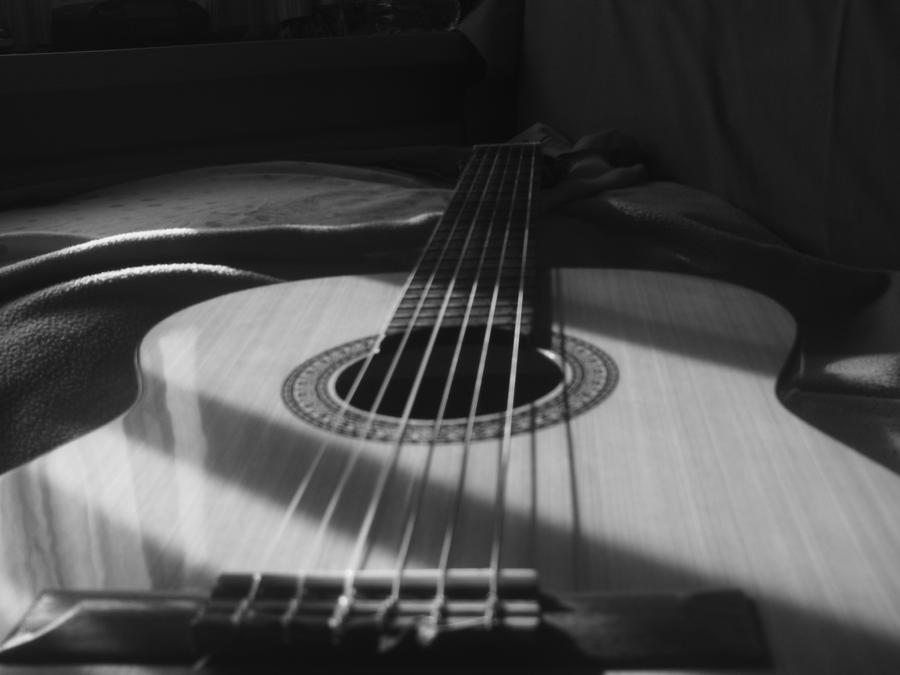 Black and white guitar by kuria7 on DeviantArt