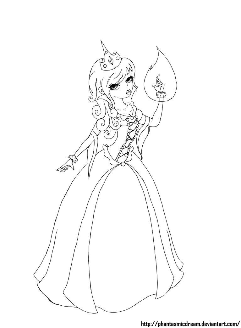 Line Art Queen : Evil queen line art by phantasmicdream on deviantart