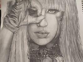 Lady GaGa Portrait by Firespirit7