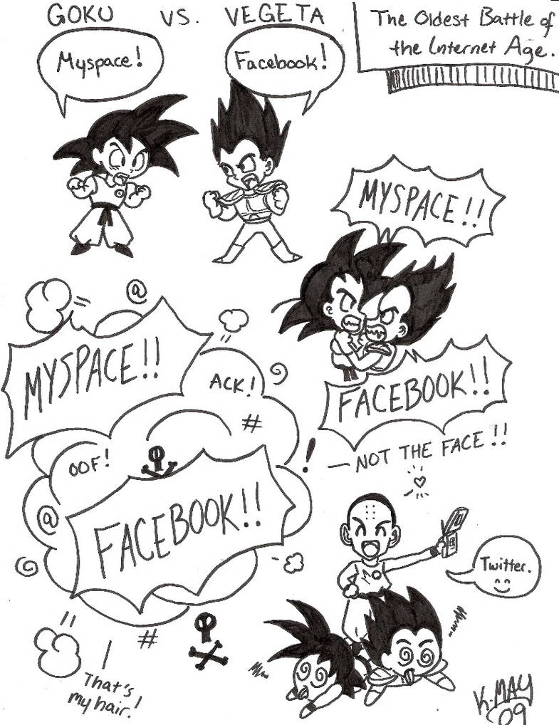 Myspace vs  Facebook DBZ by kwessels on DeviantArt