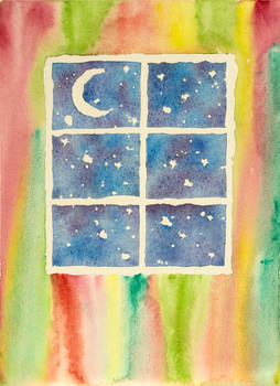 Watercolor window