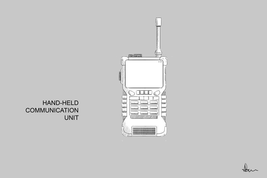 Hand-held Communication Unit by ANNAS0R