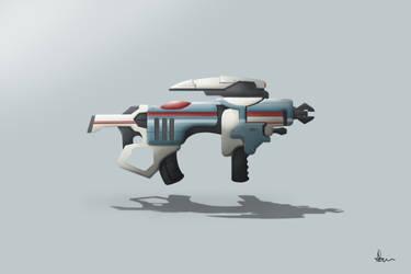 Sci-fi Submachine Gun by ANNAS0R