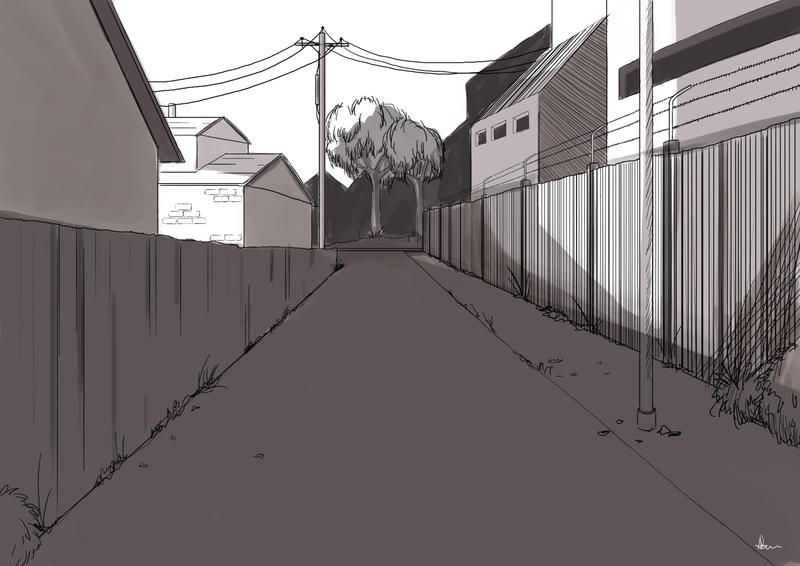 Secluded Street Concept by ANNAS0R