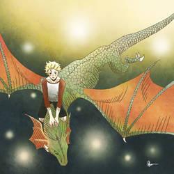 Boy Riding Dragon by ANNAS0R