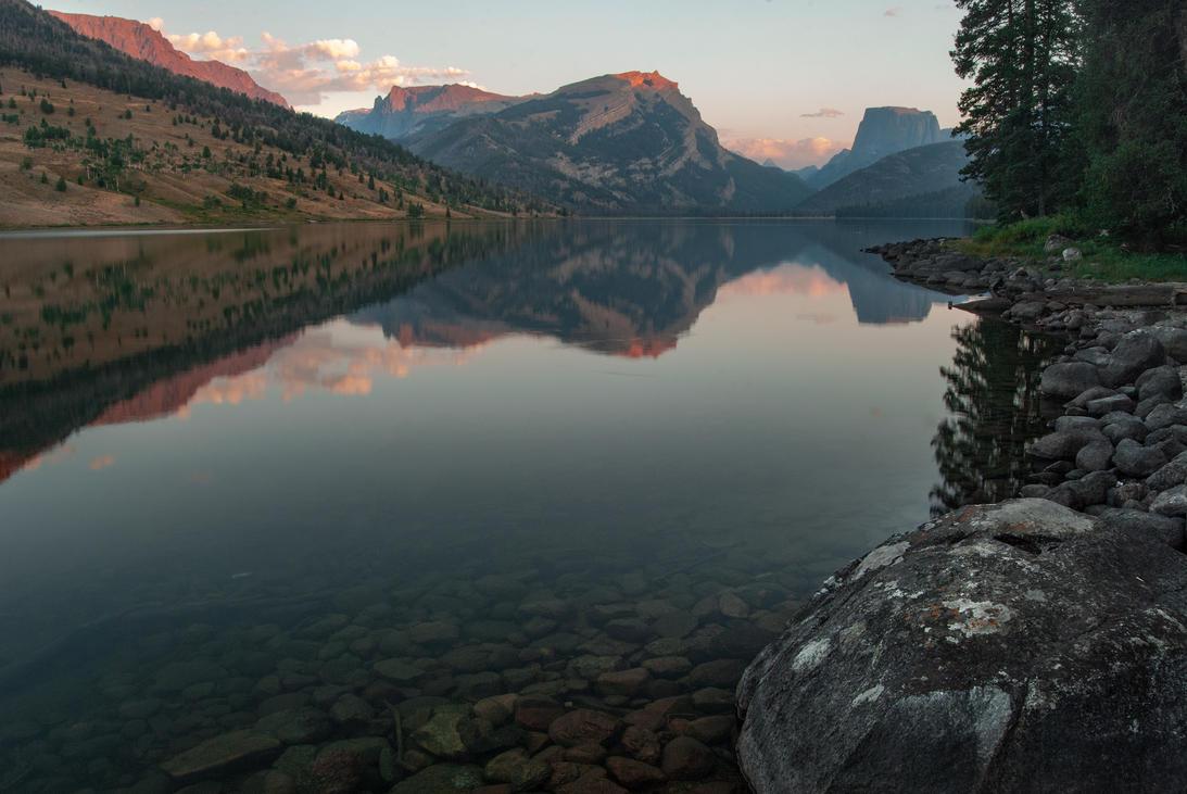 Lower Green River Lake Sunset Full by wyorev
