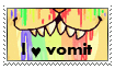 vomit fetish stamp