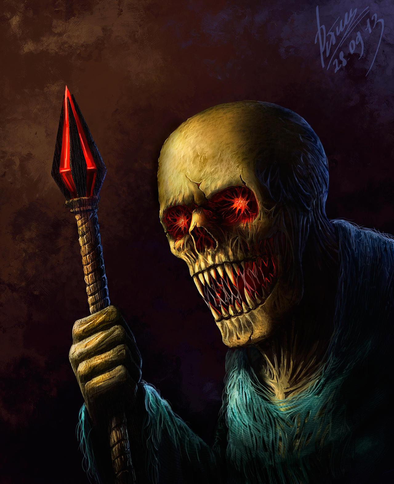 Skull by abzac666