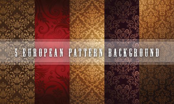 5 European pattern background by kmblogdesignign