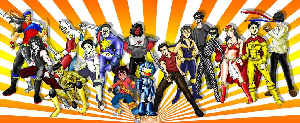 Pinoy Superheroes by TeardropTC