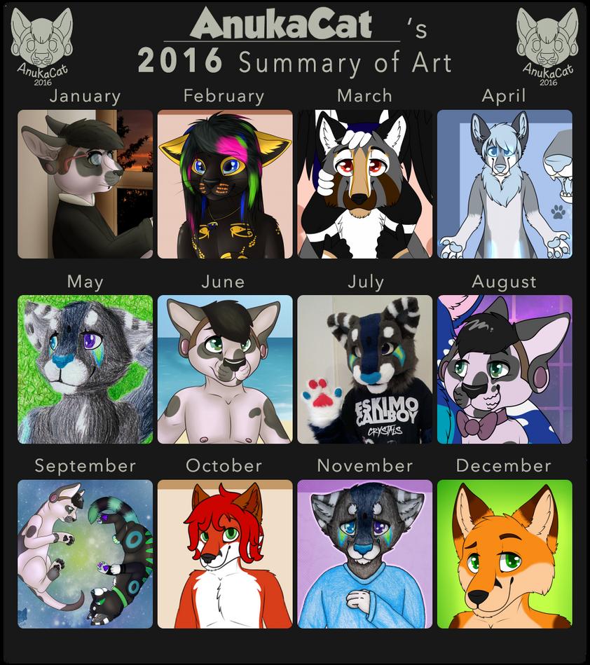 .: Summary of Art 2016 :. by AnukaCat