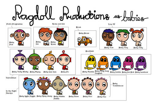 Ragdoll Productions as babies