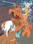 Scorpion man vs lord of thunder and curse god
