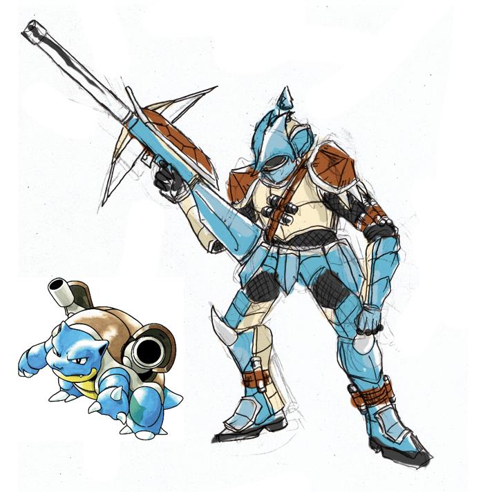 Pokémon X Monster Hunter!!