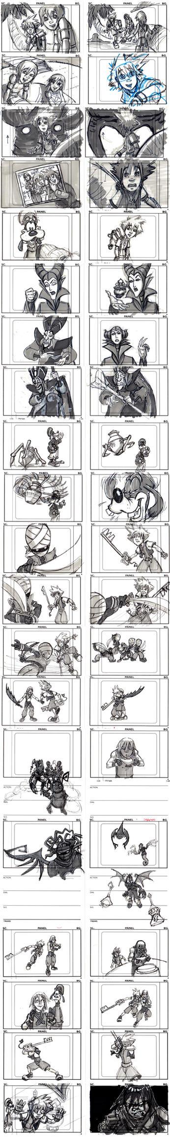 Kingdom Hearts Pilot Board by SethKearsley