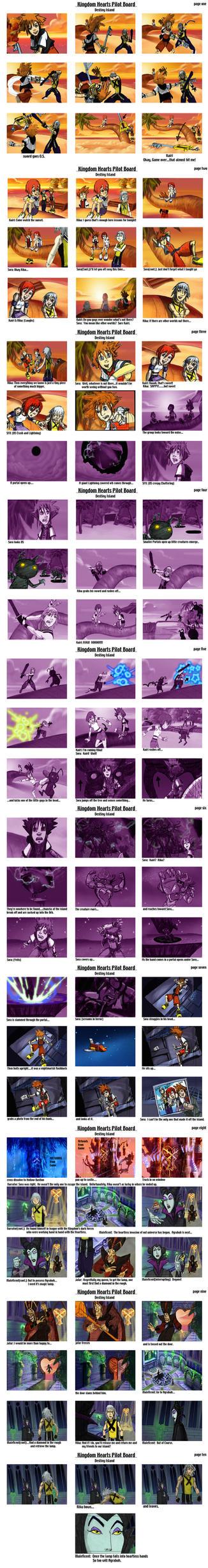 Kingdom Hearts Color Board by SethKearsley