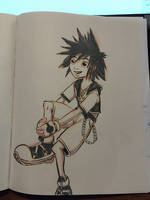Inktober day 4 - Sora by SethKearsley