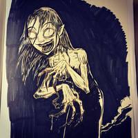 Inktober day 10 - The Witch by SethKearsley