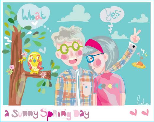 a sunny spring day by monyetbuluk