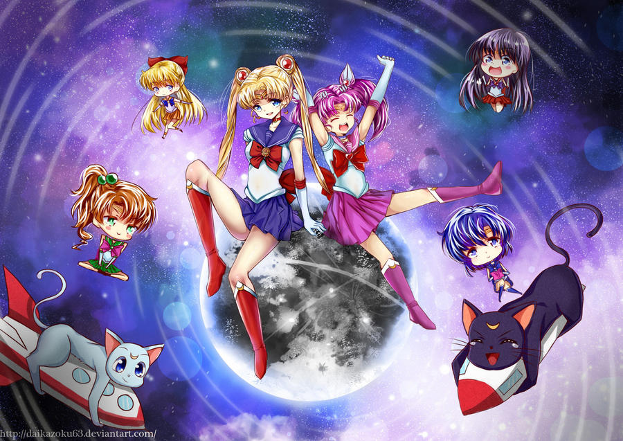 Sailor Moon + Process Picture by Daikazoku63