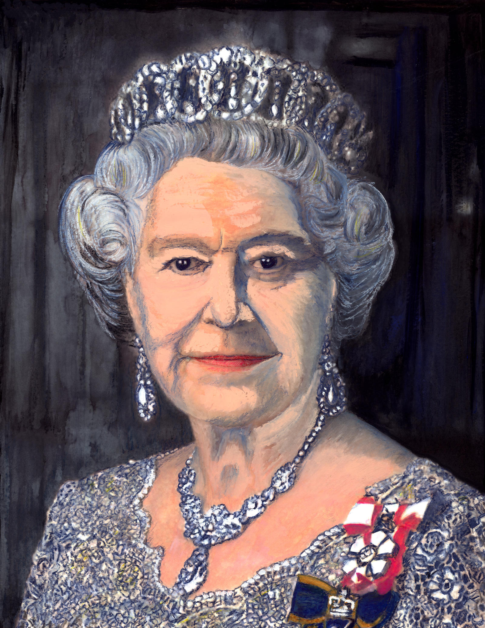 Portrait of the Queen by TheFranology