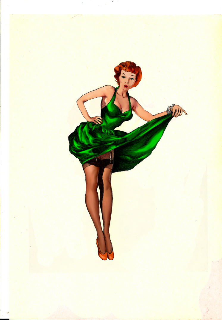 50s Pin Up green by TheFranology on DeviantArt