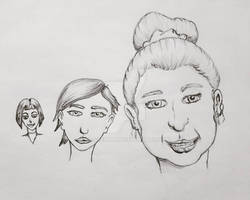 Sketch Practice: Female Faces
