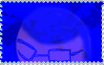Bruce in blue Stamp by BrucetheDarkling44