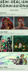 Semi-realism commissions open! by Smoxt