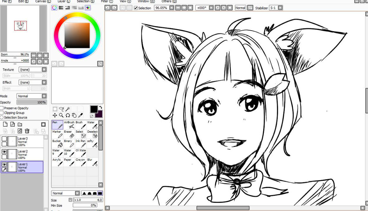 W.I.P Cat girl by TinyMushroom