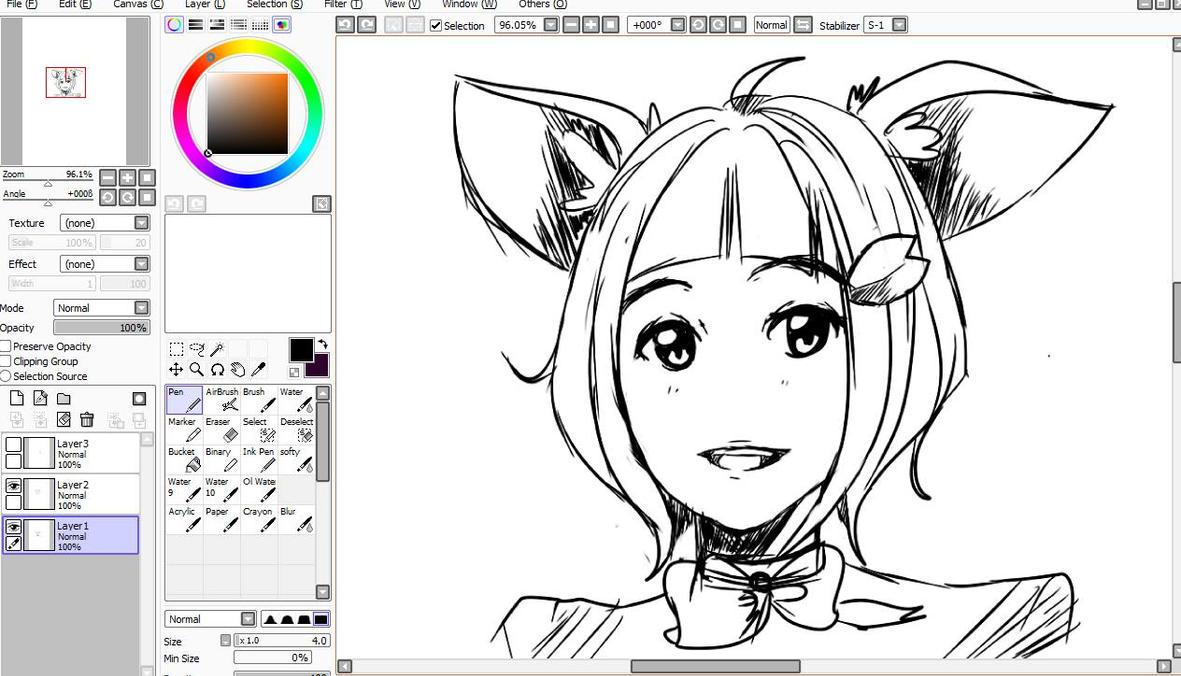 W.I.P Cat girl by TinyMushroom