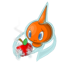 Rotom is HUNGRYYYY by crossedstar