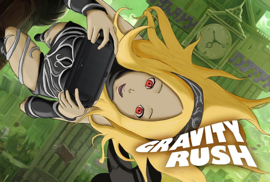 Gravity Rush 1 - PS Vita Lockscreen by ElderWraith on