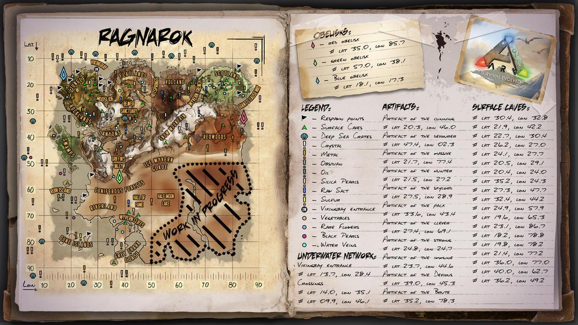 Perfect Ragnarok Map For Ark Survival Evolved By ElderWraith ...