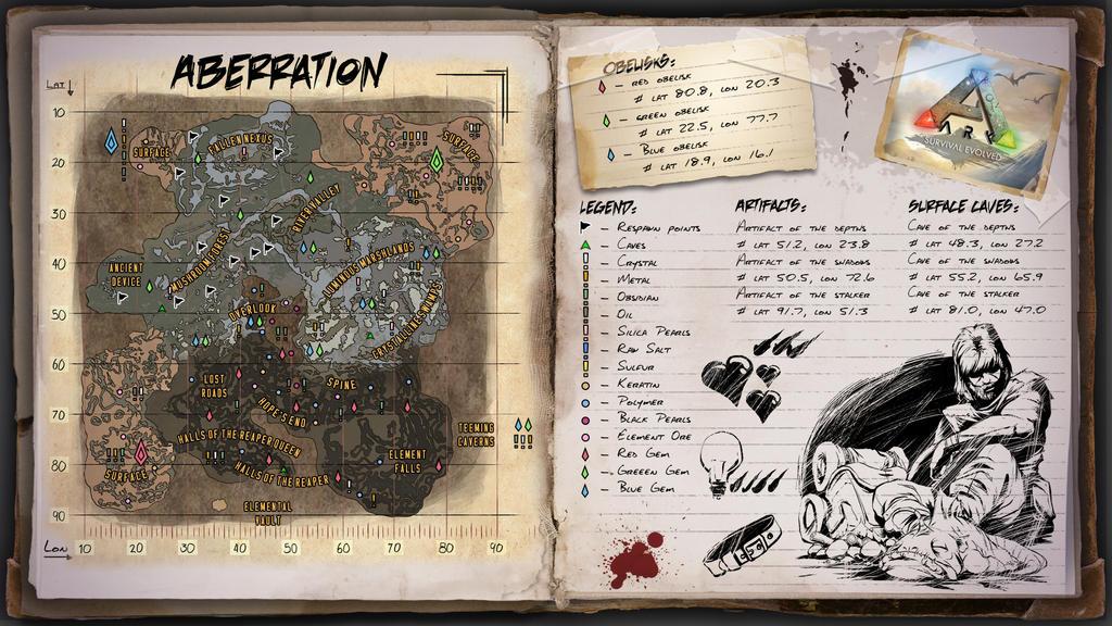 Ark Aberration Karte.Aberration Map For Ark Survival Evolved By Elderwraith On