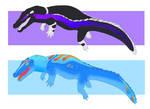 Neon Crocodilian Adopts - 2/2 Open by CosmicSlug101