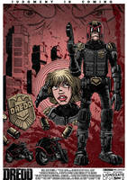 Dredd Movie Poster by TomBerryArtist