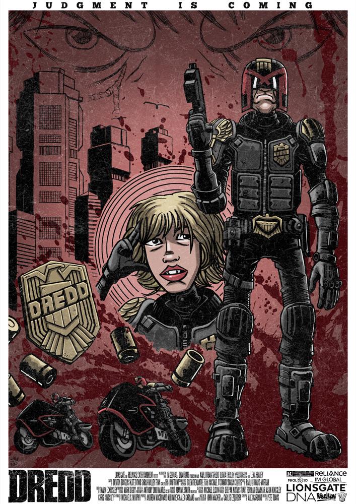 Dredd Movie Poster by TomBerryArtist