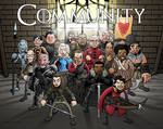 Winger Is Coming: Game of Thrones/Community Poster