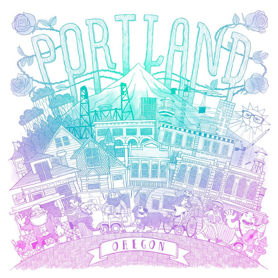 Portland Print - Colour by TomBerryArtist
