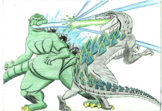 Godzilla vs. Godzilla -OLD- by JustinGreene