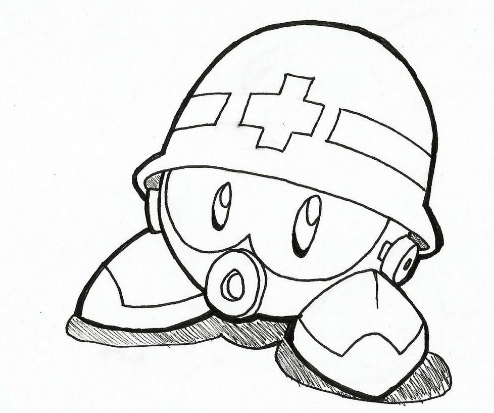 Metall - Mega Man / Rockman (Inktober) by JustinGreene