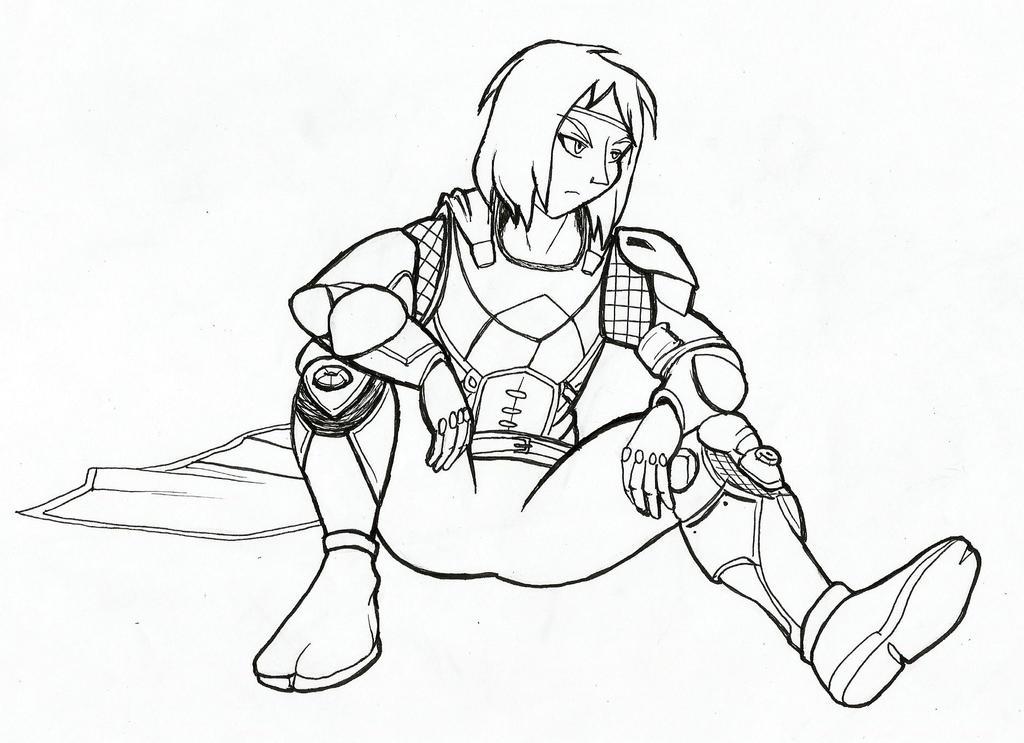 Awoken Hunter (AnimeCwboy) - Destiny 2 (Inktober) by JustinGreene