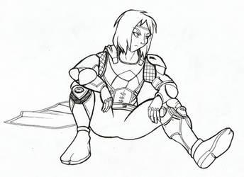 Awoken Hunter (AnimeCwboy) - Destiny 2 (Inktober)
