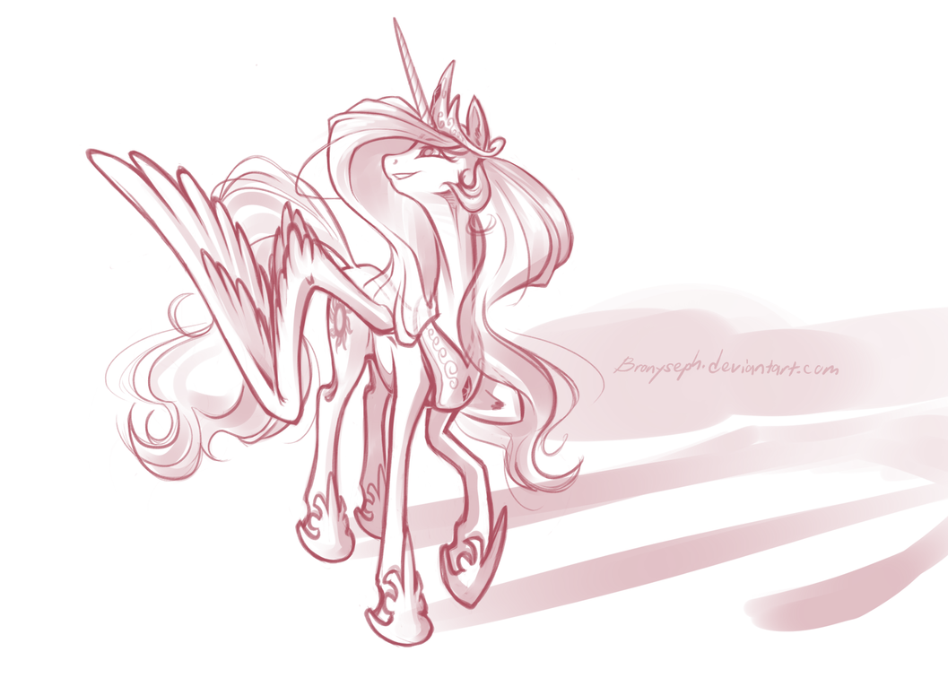 Princess Celestia by bronyseph