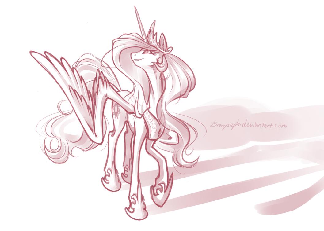 Princess Celestia by bronyseph