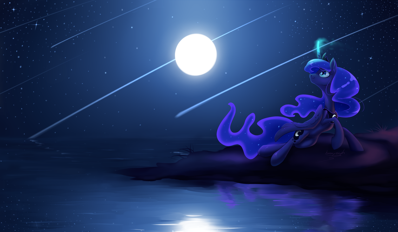 Lunas Light Show by bronyseph