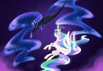 Celestia vs luna -commission-